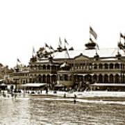 Neptune Casino And Onion-domed Bandstand, Santa Cruz Beach Circa 1904 Art Print