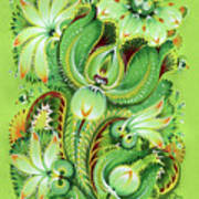 Neptunes Flowers Art Print