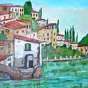 Nesso Village In Lake Como Art Print