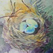 Nest In The Ferns Art Print