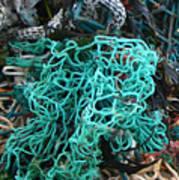 Netting And The Sea Art Print