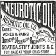 Neurotic Vintage Ad Art Print