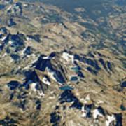 Nevada Mountain Terrain Aerial Lakes Art Print
