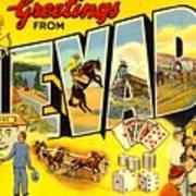 Nevada Postcard Art Print
