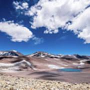 Nevado Ojos Del Salado And Laguna Negra Art Print
