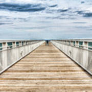 Never Ending Beach Pier Art Print