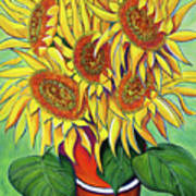 Never Enough Sunflowers Art Print by Andrea Folts