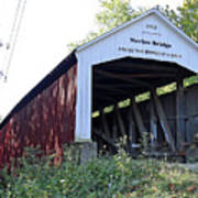 Nevins Covered Bridge Indiana Art Print