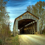 Nevins Covered Bridge Art Print