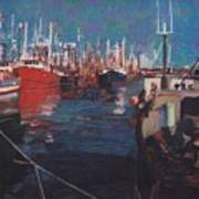 New Bedford Fishing Fleet Art Print