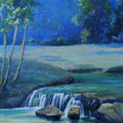 New Braunfels River Scene  Art Print