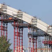 New Bridge Concrete Arc Construction Site Art Print
