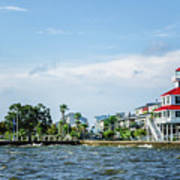 New Canal Lighthouse And Lakefront - Nola Art Print