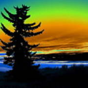 New Dawn In Spokane Art Print
