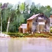 New England Boat Repair Art Print