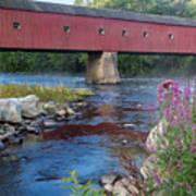New England Covered Bridge Connecticut Art Print