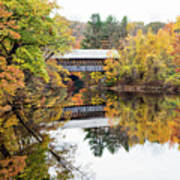 New England Covered Bridge No.63 Art Print