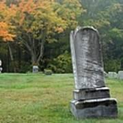 New England Graveyard During The Autumn  Art Print