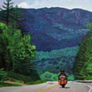 New England Journeys - Motorcycle 2 Art Print