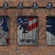 New England Patriots Brick Wall Art Print