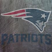 New England Patriots Translucent Steel Art Print