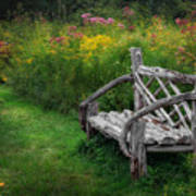 New England Summer Rustic Art Print