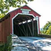 New Germantown Covered Bridge Art Print