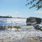 New Hampshire Lake Gale Art Print