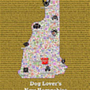 New Hampshire Loves Dogs Art Print