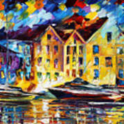 New Harbor Art Print