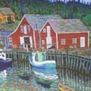 New Harbour  N.s. Art Print