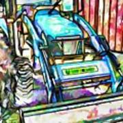 New Holland Workmaster 75 Tractor  2 Art Print