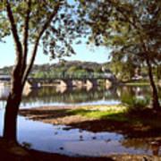 New Hope Lambertville Bridge Art Print