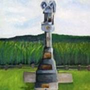 New Jersey Soldier At Monocacy Battlefield In Frederick Md. Art Print