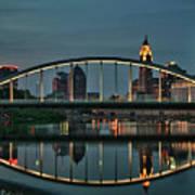 New Main Street Bridge At Dusk - Columbus, Ohio Art Print