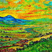 New Mexican Sunset Print by Michael Durst