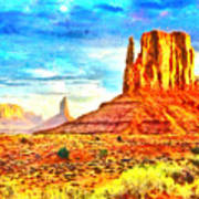 New Mexico Beautiful Desert - Pa Art Print