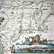 New Netherland Map Art Print