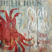 New Orleans Crab Cakes Painting By Mindy Sommers