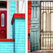New Orleans Doorways Diptych One Art Print