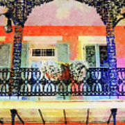 New Orleans French Quarter Balcony Art Print