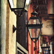 New Orleans Gas Lamps Art Print