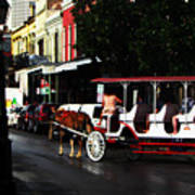New Orleans Horse Carriage Art Print