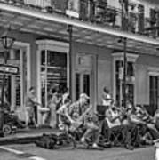New Orleans Jazz 2 - Bw Art Print