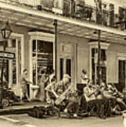 New Orleans Jazz 2 - Sepia Art Print