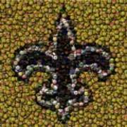 New Orleans Saints  Bottle Cap Mosaic Art Print by Paul Van Scott