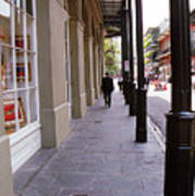 New Orleans Sidewalk 2004 Art Print