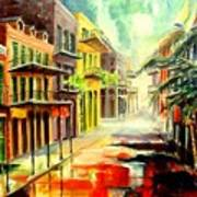 New Orleans Summer Rain Art Print
