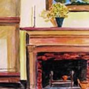 New Painting Over The Mantel Art Print