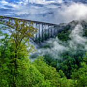 New River Gorge Bridge Morning  Art Print